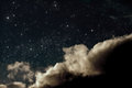 Night sky cloudy with stars Royalty Free Stock Photography