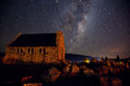 Night sky of lake tekapo new zealand one the best places in for views i was very lucky as i only stayed in the place for one and Royalty Free Stock Photography