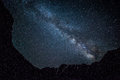 Night sky in mountains star Royalty Free Stock Photo