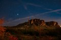 Night Sky Over Superstition Mountains Royalty Free Stock Photo