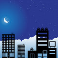 Night Sky Scene - City Royalty Free Stock Photo