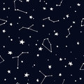 Night Sky with Stars and Constellation Royalty Free Stock Photo