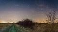 Notte cielo stelle latteo modo campi