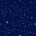 Night sky and stars seamless pattern with Stock Photos