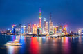 Night skyline shanghai Royalty Free Stock Photo