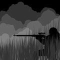 Night sniper Royalty Free Stock Photo