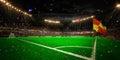 Night stadium arena soccer field championship win Royalty Free Stock Photo