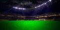Night stadium arena soccer field Royalty Free Stock Photo