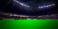 Night stadium arena soccer field Royalty Free Stock Photo