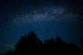 Night starry sky scene Royalty Free Stock Photo