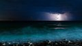 Night storm sea Royalty Free Stock Photo