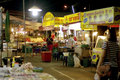 Night street food in thailand vendor Stock Images