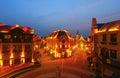 Night street scene Royalty Free Stock Photo