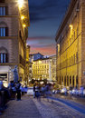 Night streets of florence italy in firenze tuscany at Stock Images