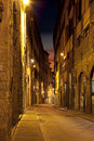 Night streets of florence italy in firenze tuscany at Royalty Free Stock Image
