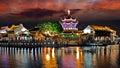 Night of Suzhou city, Jiangsu, China Royalty Free Stock Photo