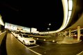 Night taxis schwechat airport evening parking in front of the in vienna tonight Royalty Free Stock Photo