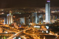 The night Tel Aviv city - View of Tel Aviv at nigh Stock Photo