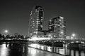 Night time in Grand Rapids Michigan Royalty Free Stock Photo