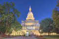 Night time picture of the Capital Building in Lansing Michigan Royalty Free Stock Photo