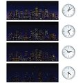 Night time skyline set of vector illustrations this is file eps format Stock Images