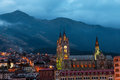 Quito Basilica at Night Royalty Free Stock Photo