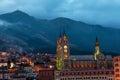 Quito Basilica at Night Royalty Free Stock Photo