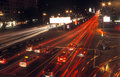 Night traffic. Stock Images