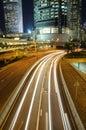 Night traffic in Hong Kong Royalty Free Stock Photos