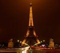Night Traffic in Paris Royalty Free Stock Photo