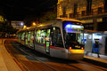 Night tram Royalty Free Stock Photos