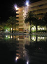 Night tropical hotel Royalty Free Stock Images