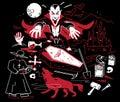Night of the Vampire Royalty Free Stock Photo