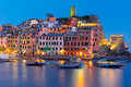 Night Vernazza, Cinque Terre, Liguria, Italy Royalty Free Stock Photo