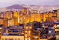 Night view barcelona catalonia Royalty Free Stock Image