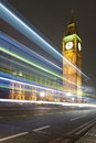 Night view of the big ben clock tower in westminster london Stock Images