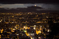 Night view of Bogota. Royalty Free Stock Photo