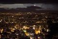 Night view of Bogota. Royalty Free Stock Photo