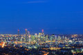 Night View of the Brisbane City from Mount Coot-tha.