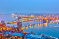 Night view of budapest hungary Royalty Free Stock Photography
