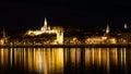 Night view of Budapest, Hungary Royalty Free Stock Photo