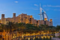 Night view of Burj al Arab hotel Royalty Free Stock Photo