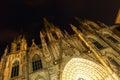 Night view of Catedral de Barcelona