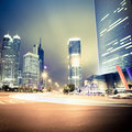 Night view of the century avenue in shanghai Royalty Free Stock Photos