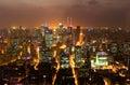Night view of China shanghai Royalty Free Stock Photo