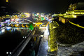 Night view this is chinese famous of phoenix town in hunan province Royalty Free Stock Photos