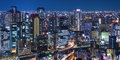 Night view of the city japan Stock Photos