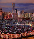 Night view of city landscape in Shenzhen China Royalty Free Stock Photo