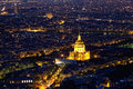 Night view of the city paris main political economic and cultural center france Stock Images
