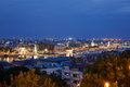 Night view of the city side of Pest. Budapest Royalty Free Stock Photo